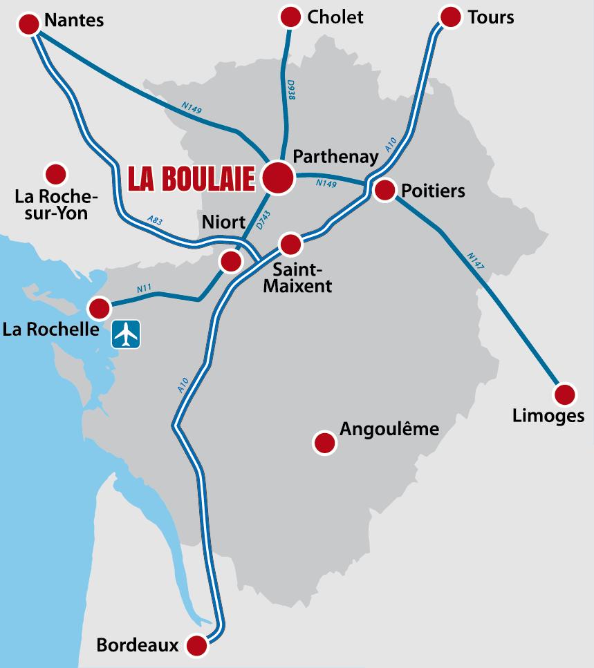 La Boulaie en Poitou charentes